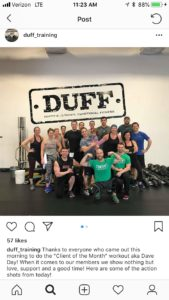 INSTAGRAM DUFF TRAINING